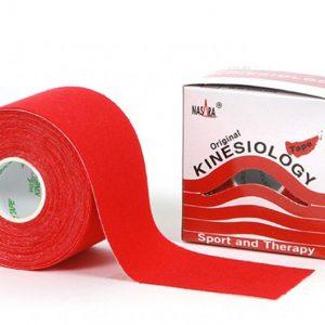 Nasara Kinesiology Tape 500 x 5 cm rot